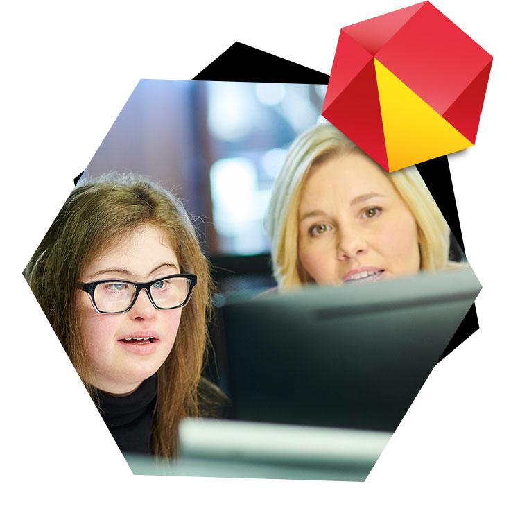 Arbeiten mit Assistenz am Computer