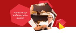 Arbeiten bei Arbeitsgebern wie einer Bäckerei